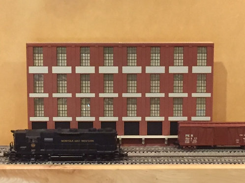 "Trackside Warehouse w/ Loading Shadowbox WH-1D-5, 4-Story, 60"" Long"