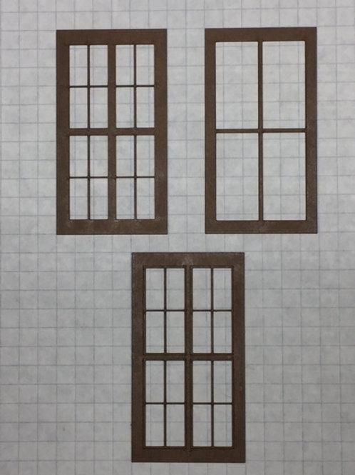 "W1-03 Warehouse Window 1-1/2"" x 2-3/4"", 16-Lite, Framed 2 Over 2 (10 pcs.)"