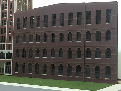 """O Scale Paterson Mill- Art Factory, 4-Story Shadowbox WH-04, 27-1/2"""" Long"""