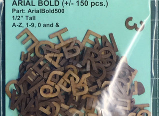 20% Off Laser Cut Letter Sets Through March 31, 2020