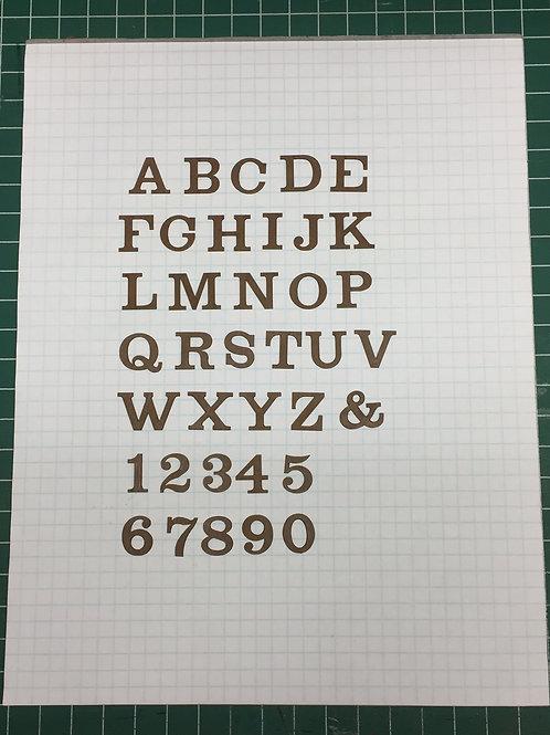 """Westinghouse 5/8"""" (0.625"""") High Laser Cut Letter Set (+/- 150 pcs.)"""