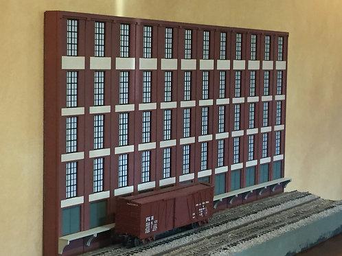 "Trackside Warehouse w/ Loading Shadowbox WH-1F-4, 5-Story, 48"" Long"