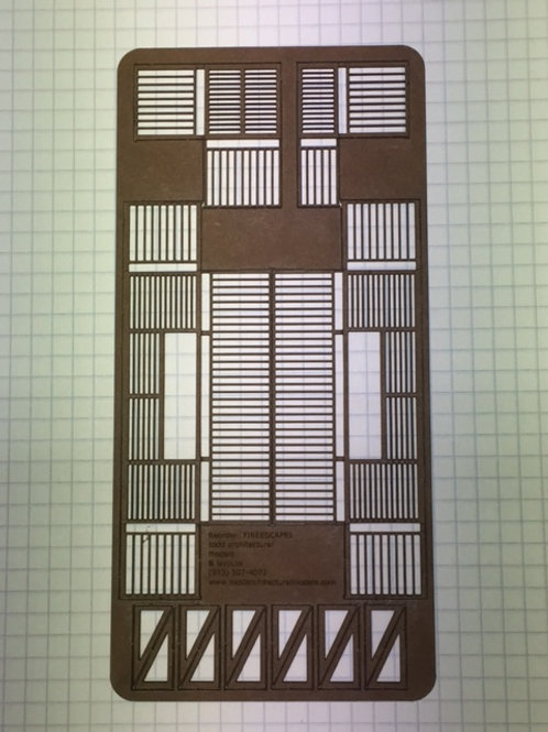 Standard Floor Grate Fire Escapes and Support Brackets