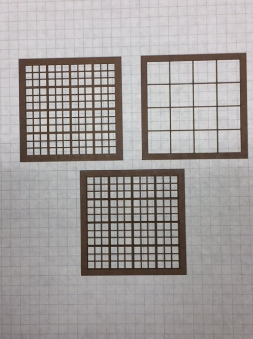 "W2-01 Warehouse Window 2-3/4"" x 2-3/4"", 144-Lite, Framed 4 Over 4 (10 pcs.)"