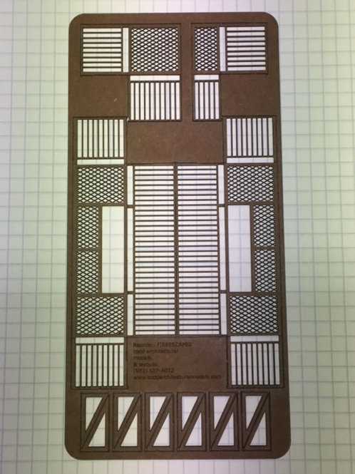 Diamond Floor Grate Fire Escapes and Support Brackets