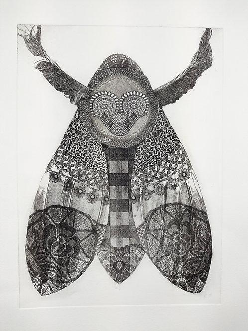 'White Moth' Etching