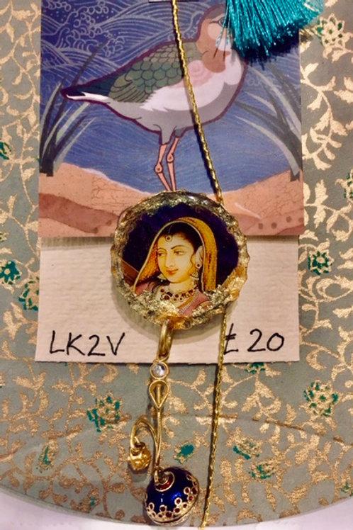 (SOLD)Vintage Découpage Brooch