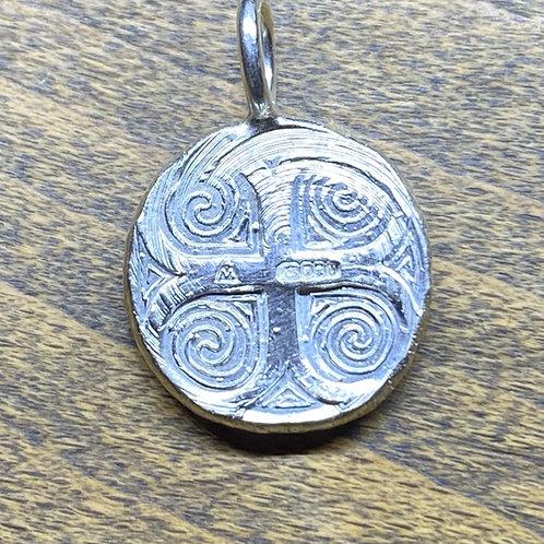 Celtic Cross Spiral Pendant
