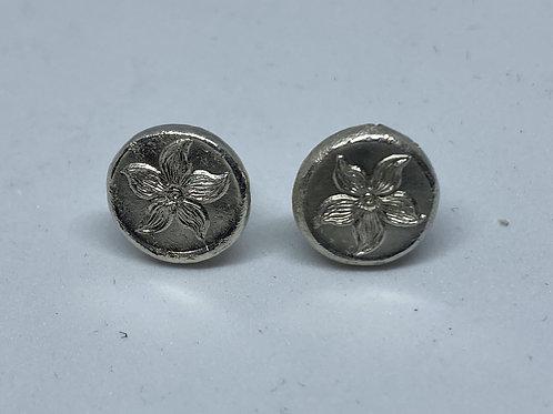 Periwinkle Silver Earrings