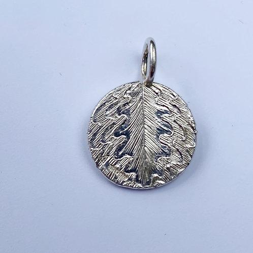 (SOLD) Oak Leaf Silver Pendant
