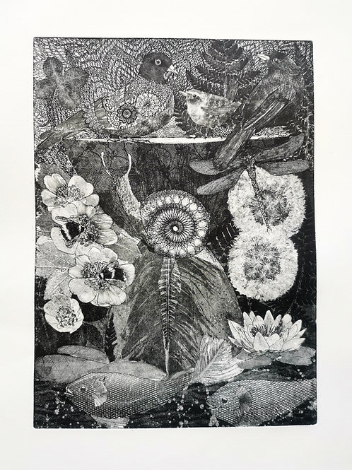 'The Pond' Etching