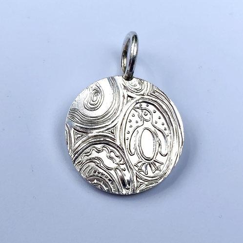 (SOLD)Penguin (Animalia) Silver Pendant