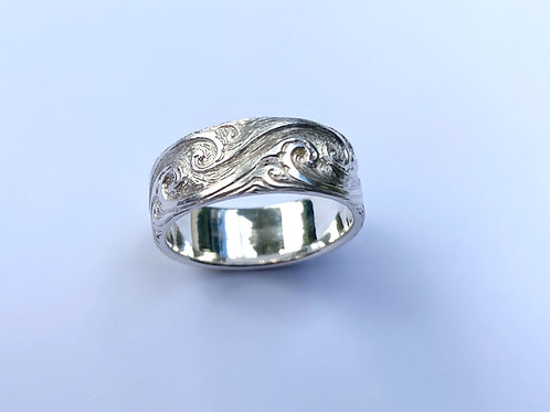 Wave Scroll Ring