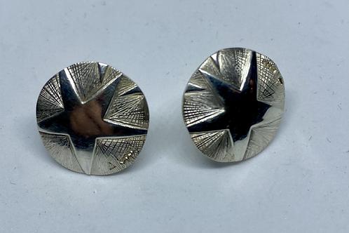 Big Star Silver Earrings