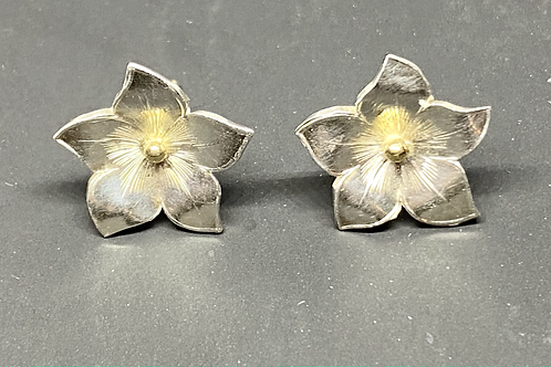 Flourie Silver Flowers 18 ct Gold beads