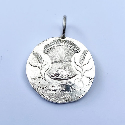 Corn Stook Silver Pendant