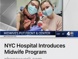 Exciting NBCNewYork Coverage about the Opening of Lenox Hill Hospital Midwifery!!