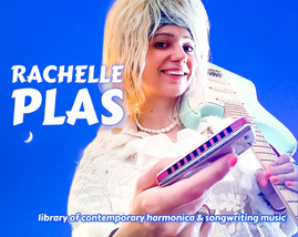 pochette library of contemporary harmonica & songwriting music - Rachelle PLAS