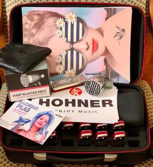 Rachelle Plas - HOHNER - Golden Melody - Flexcase XL - Harp Blaster HB52 - sE Electronics