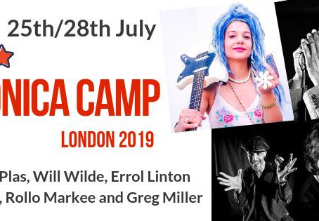 Rachelle Plas masterclass & live in London (UK) Summer Harmonica Camp on saturday 27th july 2019