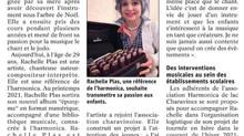 Rachelle Plas adhérente d'Harmonica du Lac à Charavines et d'Harmonicas de France Fédération