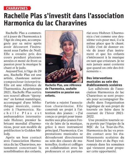 Harmonica du lac à Charavines, Harmonicas de France Fédération Rachelle Plas