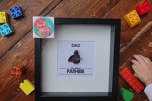 LEGO® Star Wars Inspired Darth Vader Father Shadow Box Frame