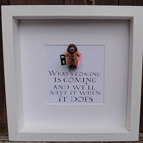 LEGO® Harry Potter Inspired Rubeus Hagrid Minifigure Shadow Box Frame