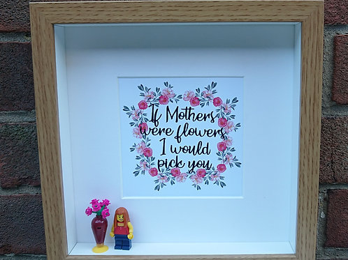 LEGO ® Custom Made Personalised Build your own Minifigure Shadow Box Frame