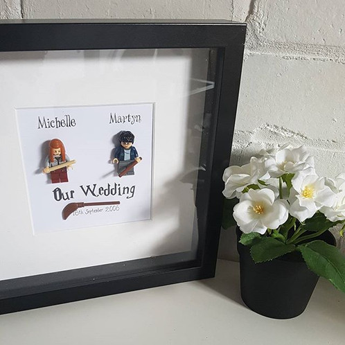 LEGO® Harry Potter Inspired Shadow Box Frame Engagement / Wedding Gift