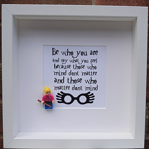 LEGO® Harry Potter Inspired Luna Lovegod Minifigure Shadow Box Frame