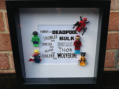 LEGO® Superhero Inspired Shadow Box Frame