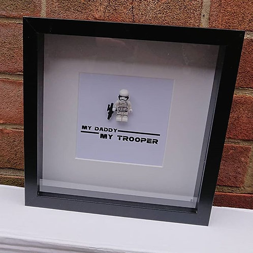 LEGO® Star Wars Inspired Storm Trooper Shadow Box Frame. LEGO FRAME