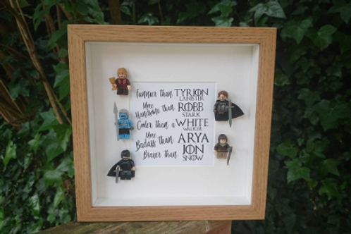 LEGO® Game of Thrones Inspired Shadow Box Frame