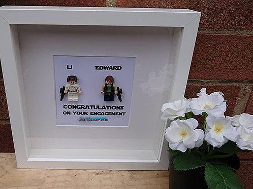 LEGO® Star Wars Inspired Han Solo and Princess Leia Organa - I Love you,