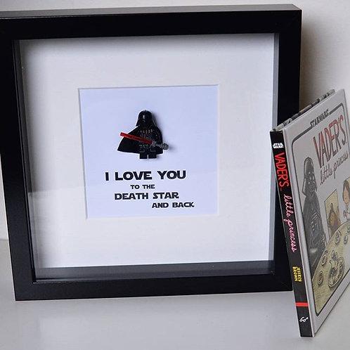 LEGO® Star Wars Inspired Darth Vader Death Star Shadow Box Frame