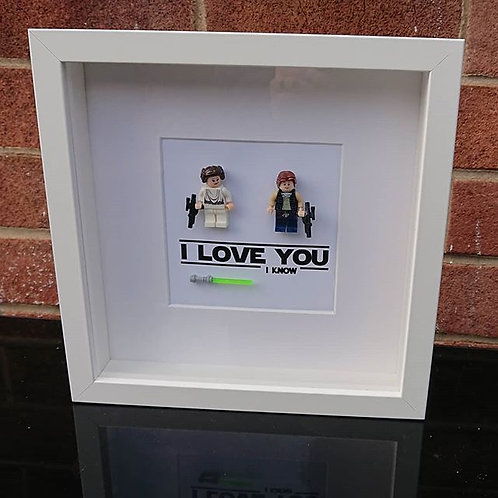 LEGO® Star Wars Inspired Han Solo and Princess Leia Organa - I Love you, I know