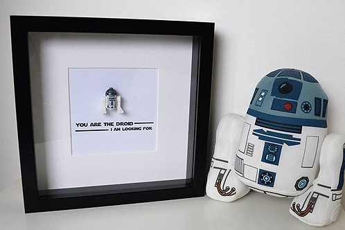 LEGO® Star Wars Inspired R2D2 Shadow Box Frame Lego Frame