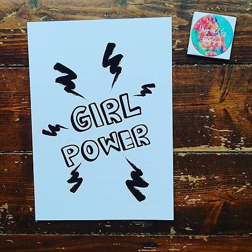 A4 Print 'Girl Power'