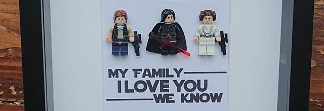 LEGO® Star Wars Inspired Family Minifigure Shadow Box Frame.  LEGO FRAME