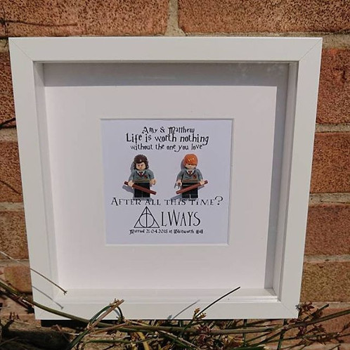 LEGO® Harry Potter Inspired Shadow Box Frame After All This Time ...