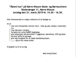 Åben Hus på Nørre Nissum Skole- og Børneunivers