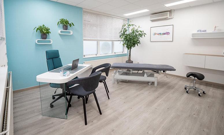 Grote behandelkamer Fysiotherapie praktijk in Zoetermeer