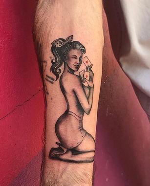 Tattoo tatouage Virginie Diable Le Diable au Corps Pin Up