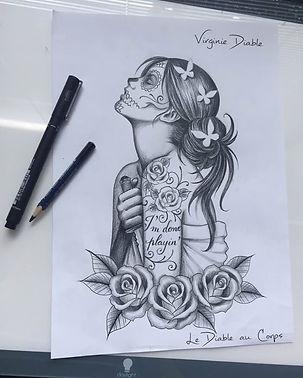 Tatouage Dessins Projet Princesse Disney Tattoo tatouage Virginie Diable Le Diable au Corps