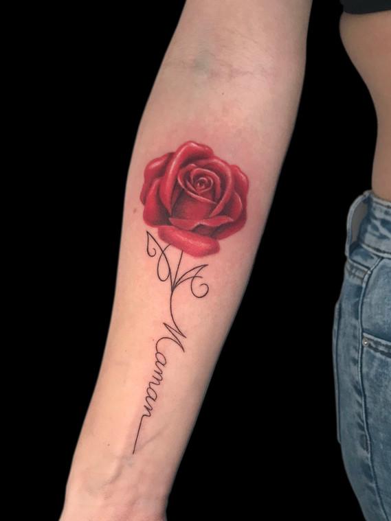 Rose lettrage