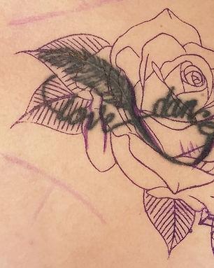 Tatouage Cover rework recouvrement reprise Tattoo tatouage Virginie Diable Le Diable au Corps