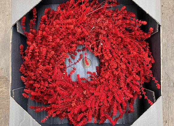 Leinenkraut Kranz rot 35 cm