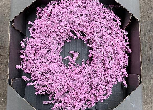 Leinenkraut Kranz rosa 45cm