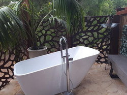 Outdoor Roman style bath